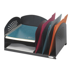 Safco - Safco 3 and 3 Combination Rack - Safco - Desktop Organizers - 3175BL