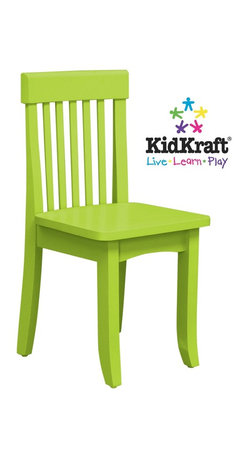 KidKraft - Avalon Chair - Green by Kidkraft - Our heirloom-quality Avalon Chair is crafted form solid wood to endure rigorous use through childhood. Available in a variety of colors, mix and match the chairs for a customized look that enhances the decor of your child's room.