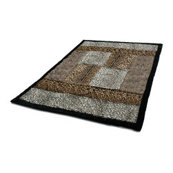 """Blancho Bedding - Onitiva - Colorful Mood Patchwork Throw Blanket  61""""-86.6"""" - This animal skin patchwork throw blanket measures 61 by 86.6 inches. Comfort, warmth and stylish designs."""