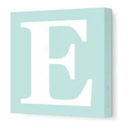"Avalisa - Letter - Upper Case 'E' Stretched Wall Art, 12"" x 12"", Sea Green - Spell it out loud. These uppercase letters on stretched canvas would look wonderful in a nursery touting your little one's name, but don't stop there; they could work most anywhere in the home you'd like to add some playful text to the walls. Mix and match colors for a truly fun feel or stick to one color for a more uniform look."