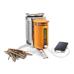 BioLite CampStove - A camping stove? An iPod charger? Both? All the size of a water bottle. This makes me want to go camping immediately.
