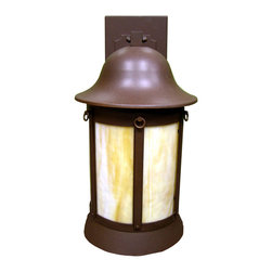 """Meyda Lighting - Meyda Lighting 9.5""""W Bowler Outdoor Wall Sconce - Illuminate The Exterior Of Your Home Or Other Structures With This Charming Wall Sconce Highlighted With A Classic Design. Cafe Noir Finished Steel Frame With Rings And Wall Brackets Complement The Stunning Opaque Beige Art Glass Panels."""