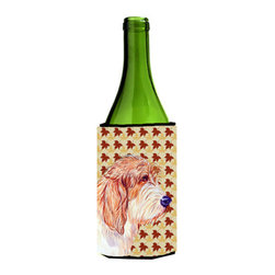 Caroline's Treasures - Petit Basset Griffon Vendeen Fall Leaves Portrait Wine Bottle Koozie Hugger - Petit Basset Griffon Vendeen Fall Leaves Portrait Wine Bottle Koozie Hugger Fits 750 ml. wine or other beverage bottles. Fits 24 oz. cans or pint bottles. Great collapsible koozie for large cans of beer, Energy Drinks or large Iced Tea beverages. Great to keep track of your beverage and add a bit of flair to a gathering. Wash the hugger in your washing machine. Design will not come off.