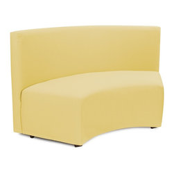 Howard Elliott - Starboard Universal Radius InCurve - Create sleek, modern seating arrangements for bars, lobbies or restaurants with our Radius In-Curve Banquette. It features a dramatic arced shape. Place 2 or more together for a dramatic seating display. Take your seating arrangement a step further by pairing it up with the coordinating Bench and Round Ottoman!