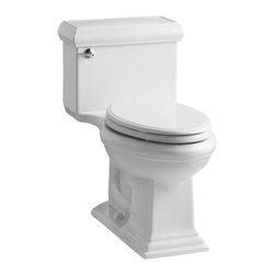 KOHLER - KOHLER Memoirs classic Comfort Height One-Piece Elongated 1.28 GPF Toilet - KOHLER K-3812-0 Memoirs classic Comfort Height One-Piece Elongated 1.28 GPF Toilet with Class Five flush system and left-hand trip lever in White
