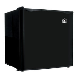 Curtis - Igloo Black Bar Fridge - Save space in your fridge with this compact energy efficient 1.7 cubic foot fridge from Igloo. This fridge has an aesthetically pleasing design and has a sleek black finish to match any decor theme.