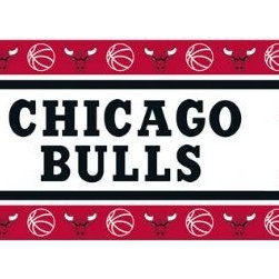 Sports Coverage - Chicago Bulls NBA Self Stick Wall Border - Self-stick, removable, and reusable Chicago Bulls Wall Borders are the easy way to decorate and won't damage walls! Peel and Stick technology will adhere to any smooth surface. Washable and dry strippable. Colorful graphics are printed on durable, tear-resistant vinyl wall border in the repeating pattern shown. Size: 5 x 15' long per package. It's so quick and amazing, just peel and stick! Installation has never been so easy!