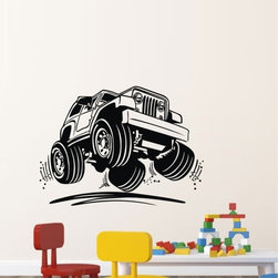 ColorfulHall Co., LTD - Suv Race Off-Road Vehicle Cars Wall Decals - You will find hundreds of affordable peel - and - stick wall decal designs, suitable for all kinds of tastes and every room in your house, including a children's movie theme, characters, sports, romantic, and home decor designs from country to urban chic. Different from traditional decals, vinyl wall decals is with low adhesive that allows you to reposition as often as you like without damaging the paint. Application is easy: peel offer the pre-cut elements on the design with a transfer film, and then apply it to your wall. Brighten your walls and add flair to your room is just as easy.