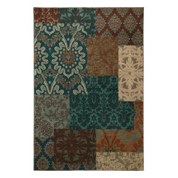 """Karastan - Karastan Carmel 74700-13109 (Pescadero Teal) 2'11"""" x 4'8"""" Rug - Floral motifs, sophisticated graphic patterns and modern damasks take center stage in the Carmel collection. Styled for today's relaxed living these fashion inspired patterns feature color palettes that are decorator friendly and offer the consumer an easy decorating choice."""