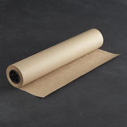 Recycled Kraft Paper Roll - A paper converter company in Pennsylvania creates kraft paper out of 100% recycled paper in a durable weight suited to all kinds of craft projects. Yet it's pliable enough to wrap gifts or stretch down a table as a casual runner that your guests can scribble on. Hold the roll securely in place with our metal paper cutter. Generous roll dispenses 300 feet of paper.