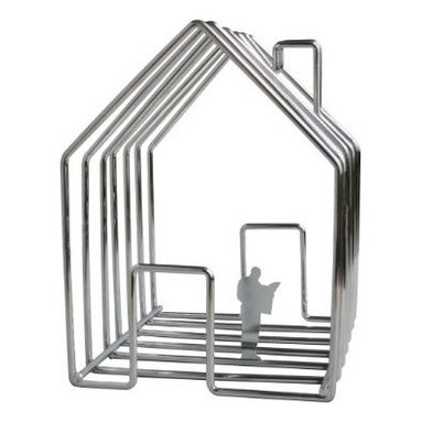 Invotis Orange - Wirehouse Magazine Holder - The only (home) improvement this charming magazine holder needs is walls. You can play contractor by inserting magazines into the frame. (Careful, someone's already moved in.) Later, slide the copies out for easy inspection.