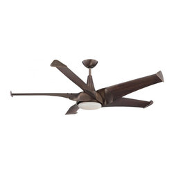 Joshua Marshal - One Light White Frosted Glass Byzantine Bronze Ceiling Fan - One Light White Frosted Glass Byzantine Bronze Ceiling Fan