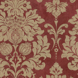 Large Red and Gold Damask - MD29421 - Collection:Silk Impressions