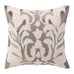 """Courtney Cachet - Ikat Embroidered Decorative Pillow - The modern prints and vibrant colors of this pillow mirror the designer's well-known positive and energetic attitude for a vibe that can only be described as happy and high-spirited. Features: -Modern prints and vibrant colors. -Down-filled. Dimensions: -16"""" H x 16"""" W x 5"""" D, 4 lbs."""