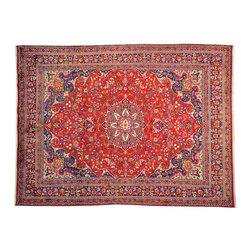 Old Persian Mashad Exc Cond 10'x13' Full Pile 100% Wool Hand Knotted Rug SH14423 - Hand Knotted Persian Rugs From Iran are know to be the highest quality rugs from around the world.  The weavers from Iran are also known to be the most skilled.  There's many different persian designs and these designs are derived from the city that they're woven in.