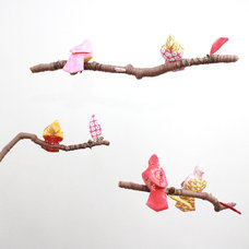 Eclectic Mobiles Baby Jives Fabric Bird Mobile