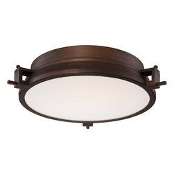 George Kovacs - P1109-647-L Loupe Flush Mounts Copper Bronze Patina W/ Clear / White Inside Glas - Product