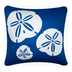 http://www.wabisabigreen.com/eco-art-throw-pillows/sand-dollar-throw-pillows.htm - Decorative throw pillows hand printed with a trio of sand dollars exemplify beach decor. The modern design Sand Dollar pillow in colors reminiscent of the ocean is an exquisite accent for coastal living. Designed, hand printed, and fabricated in America.