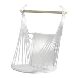 """Koehler Home Decor - Koehler Home Decor Hammock Chair - A relaxing way to retreat from the day. Soft cotton padding and gentle rocking motion cradles you in exceptional comfort. Great for use indoors or out. Max Wt.: 200 lbs. Seat: 10.5"""" wide. Chair measures 38""""x 17.75""""x 52"""" high. A relaxing way to retreat from the day. Great for use indoors or out."""