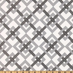 Waverly Square Root Tuxedo Fabric - I love that the bold gray and black stripes are broken up with fine white stripes. This fabric would be perfect for roman shades.