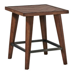 Hammary - Hammary Boardwalk Rectangular End Table in Distressed Medium Brown - Rectangular End Table in Distressed Medium Brown belongs to Boardwalk Collection by Hammary End Table (1)