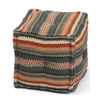 Square Chauncey Ottoman - Add to the elegant style of your existing room with the Square Chauncey Ottoman Chair. It features a square shape, constructed with kilim material and exhibits striped designing that will bring a fresh, sophisticated look to any corner of your home.