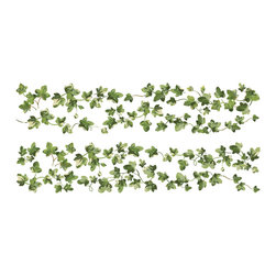 RoomMates - Painterly Ivy Peel and Stick Wall Decals - Bring the outside in with this set of painterly ivy wall decals. Each individually cut leaf and element can be assembled into a design to fit any space. Removable and repositionable, the decals can be removed and repositioned as needed to achieve your desired look. If removal is necessary, simply peel slowly from the surface and redecorate!