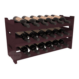 Wine Racks America - 18 Bottle Mini Scalloped Wine Rack in Redwood, Burgundy Stain - Stack three 6 bottle racks with pressure-fit joints for proper storage of 18 wine bottles. This rack requires no hardware for assembly and is ready to use as soon as it arrives. Makes the perfect gift and stores wine on any flat surface.