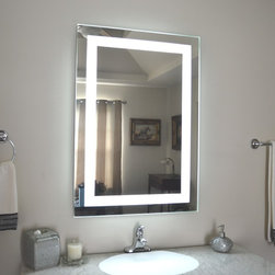 """Lighted Mirrors for every Bath MAM82836 28"""" wide x 36"""" tall - We carry the MAM8 Front lighted style in over 30 Sizes from 20x28 to 60x36"""