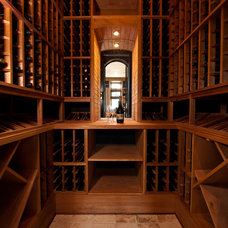 Traditional Wine Cellar by Island Architects