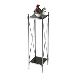 Butler - Modern Expressions Pedestal Plant Stand - Modern Expressions is a fresh take on classic design. This stunning array of time-honored designs collectively evoke a sense of familiarity, though, individually, each have a look all their own.