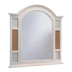 Lea Industries - Lea Hannah Picture Frame Mirror in White - The Hannah collection by Lea is sure to look great in any girl's room with its soft curves, shaped pilasters, finessed lines, scalloped details, and casual hardware. This collection is offered in a crisp White finish and is crafted from solid hardwoods and painted wood products. The Hannah collection offers many different storage that are perfect for any size room. With the updated country classic styling of the Hannah collection it is sure to be a great fit for your daughter's bedroom! with roots that stretch all the way back to 1869, Lea Industries has been adding its signature style and design to homes around the United States for more than a century. Children's furniture makes up the cornerstone of this topnotch manufacturer's lineup, and Lea has always managed to produce functional, modern - yet sophisticated - furniture for children. Furniture that bears the Lea name is always high quality, versatile and attractive.