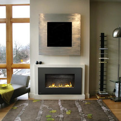 """Napoleon - Napoleon Plazmafire Wall Hanging Fireplace with Slate Brick - WHD31N - Shop for Fire Places Wood Stoves and Hardware from Hayneedle.com! The customizable Napoleon Plazmafire Wall Hanging Fireplace with Slate Brick has the versatility and convenience of an electric fireplace in a design that installs almost as easily as hanging a portrait on the wall. This contemporary natural gas fireplace features an impressive 30x15-inch viewing area that showcases a beautiful flame against Napoleon's exclusive slate brick panel and topaz Crystaline ember bed and generates up to 20 000 BTUs of comforting heat. This unit also boasts 20-inch rigid venting an battery backup in case of a power outage. A licensed contractor should be contacted for installation of all products involving gas lines. We recommend you use a professional installer to ensure the safety of the exhaust system. About NapoleonNapoleon got its start in 1976 as a steel fabrication business launched by Wolfgang Schroeter in Barrie Ontario Canada. His original stove was a solid cast iron two-door design that was produced in a 100 sq. ft. manufacturing facility. By 1981 the name """"Napoleon"""" was born along with the first single glass door with Pyroceram high temperature ceramic glass in the industry. This glass door was the first of many milestones for the company and the demand for Napoleon's wood stoves grew over the next few years beyond Ontario's borders to the rest of Canada and into the United States. Over the years Napoleon has led the way with innovative engineering and design. They are now North America s largest privately owned manufacturer of quality wood and gas fireplaces gourmet gas and charcoal grills outdoor living products and heating and cooling products. Napolean is committed to producing high quality products with honest reliable service. This approach has proven to be a successful framework to ensuring the continued rapid growth of the company."""