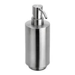 Blomus - PRIMO Soap Dispenser by Blomus - Keep the counter free from soap scum with the slick stainless steel design of the Blomus PRIMO Soap Dispenser. Looks great in the kitchen or bathroom. Pair with other PRIMO products for a contemporary facelift for the home. Available in matte stainless steel.
