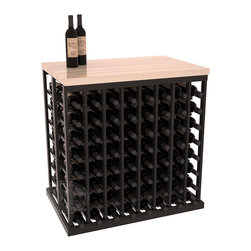 "Wine Racks America - Double Deep Tasting Table Wine Rack Kit with Butcher Block Top in Redwood - The quintessential wine cellar island; this wooden wine rack is a perfect way to create discrete wine storage in open floor space. Includes a 35"" Butcher Block Top that helps you create an intimate tasting table. With an emphasis on customization, install LEDs or add a culinary grade Butcher's Block top to create intimate wine tasting settings. We build this rack to our industry leading standards and your satisfaction is guaranteed."