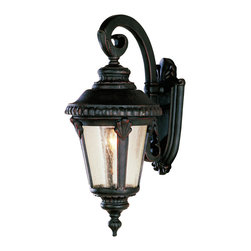 "Trans Globe Lighting - Trans Globe Lighting 5043 RT 19"" high Outdoor Coach Wall Light - An ornamental offering from Trans Globe Lighting Italian Estate collection. Braided trim with leaf window accents, and seeded glass. Fine outdoor lighting style."