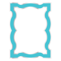WallPops - Blue Enamel Board Wall Decal - A curvy French couture, the crispest Tiffany blue hue, and shimmer shine. What more could you ask for? It's also a dry-erase message board! WallPops Decals are repositionable and always removable.