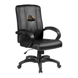 Dreamseat Inc. - Turkey Home Office Chair - Check out this Awesome - it's one of the coolest things we've ever seen. Features a zip-in-zip-out logo panel embroidered with 70,000 stitches. Converts from a solid color to custom-logo furniture in seconds - perfect for a shared or multi-purpose room. Root for several teams? Simply swap the panels out when the seasons change. This is a true statement piece that is perfect for your Man Cave or Home Office, and it's a must-have for the person who wants to personalize their work space.