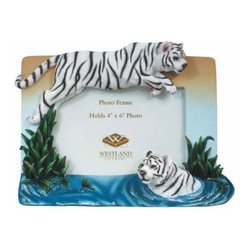 WL - 4 x 6 Inch Two White Tigers in Water Leap of Faith Photo Frame - This gorgeous 4 x 6 Inch Two White Tigers in Water Leap of Faith Photo Frame has the finest details and highest quality you will find anywhere! 4 x 6 Inch Two White Tigers in Water Leap of Faith Photo Frame is truly remarkable.