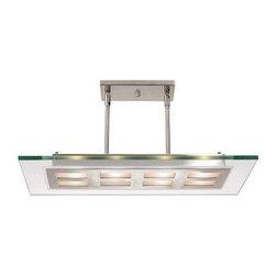 Access Lighting - Access Lighting C50108BSCLREH3418Q Aquarius Modern Pendant Light - Access Lighting C50108BSCLREH3418Q Aquarius Modern Pendant Light In Brushed Steel