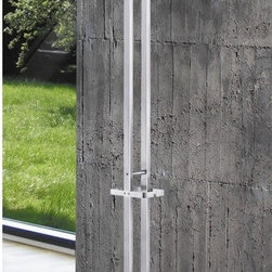 "ZACK - Atacio Coat Rack - Features: -Sophisticated and timeless coat stand. -Used in office or entry-way. -The structure stands on a heavy and stable base. -German design and quality. -Material: 18 / 10 Stainless steel. -Designed in Germany. -Overall dimensions: 65"" H x 13"" W x 13"" D."