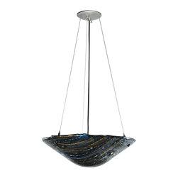 "Meyda Lighting - Meyda Lighting 108870 18""W Cielo Di Notte Fused Glass Inverted Pendant - Meyda Lighting 108870 18""W Cielo Di Notte Fused Glass Inverted Pendant"