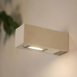 Lightology Collection - Twin Outdoor Wall Sconce - Twin Outdoor Wall Sconce features a White or Corian Grey finish. One 5 watt, 120 volt 250 Lumens 2750K LED type bulb included. Wet location rated. 2.5 inch width x 2.6 inch height x 6.7 inch depth.