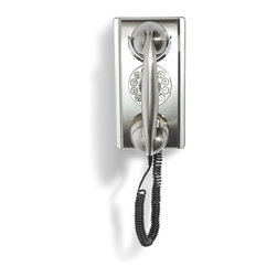 Crosley - Wall Phone - Brushed Chrome - Temporarily out of stock.