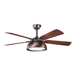 Kichler Lighting - Kichler Lighting 300142OBB Vance 3 Light Indoor Ceiling Fans in Oil Brushed Bron - 54 Inch Vance Fan