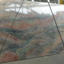 Royal Stone & Tile Slab Yard in Los Angeles - Volcano Fusion Quartzite Granite Slabs at Royal Stone & Tile in Los Angeles, CA