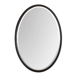 Uttermost - Uttermost Casalina Oil Rubbed Bronze Oval Mirror - Oil Rubbed Bronze Oval Mirror belongs to All Uttermost Designer Collection by Uttermost Oil Rubbed Bronze Finish With Twisted Metal Rope Detail. Mirror Is Beveled. Mirror (1)