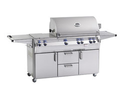 Fire Magic - Echelon E790s4EAN-62 Analog Standing NG Cabinet Grill - Analog Style E790 Stand Alone Grill -110 VAC/12 Volt Hot Surface Ignition, Rotisserie Backburner & Flush Mounted Single Side Burner