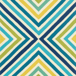 Loloi Rugs - Palm Springs  Loloi Area Rug Blue / Green PM-01 - For the first time ever, world renowned designer Dann Foley brings his eye for great design and modern living to outdoorrugs. With patterns and colors as dynamic as Danns persona, the Palm Springs Collection reflects Danns passion forfun outdoor decorating. Palm Springs is hand hooked in China of 100% polypropylene thats specially treated to befade-resistant in spite of regular sunshine or rain.