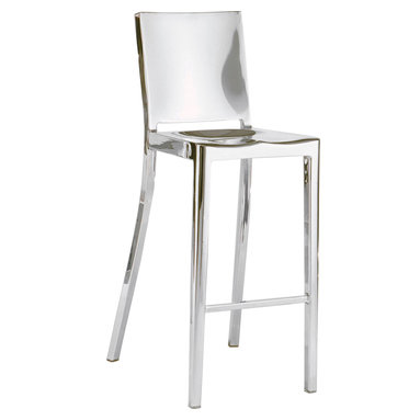 New York Stool - Polished stainless steel available in bar and counter height